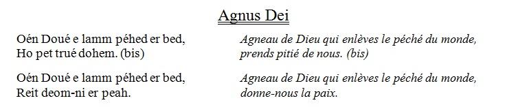 agneau de Dieu en breton